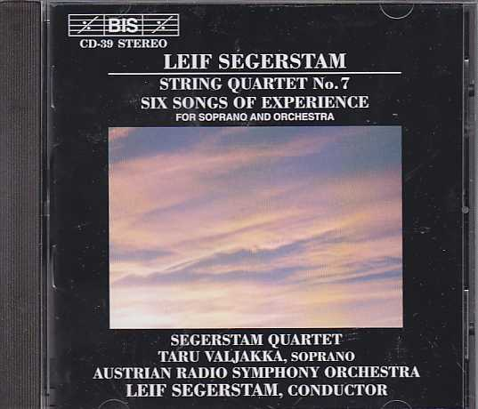 Leif Segerstam / Six Songs of Experience / String Quartet no. 7