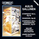 Aulis Sallinen / Symphonies 4 & 5 / Shadows / Malmö SO / James DePreist
