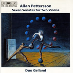 Allan Pettersson / Seven Sonatas for Two Violins, etc. / Duo Gelland