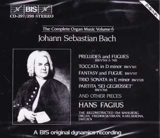 J.S. Bach The Complete Organ Music - Hans Fagius - Vol 6