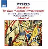 Anton Webern / Symphony / Six Pieces / Concerto for Nine Instruments / Robert Craft