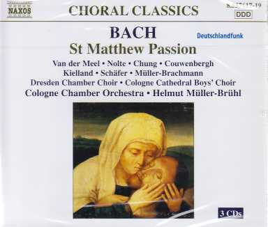 J.S. Bach / Matthäus-Passion (St. Matthew Passion) / Cologne Chamber Orchestra / Helmut Müller-Brühl 3CD
