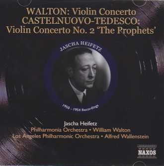 William Walton / Camille Saint-Saëns / Christian Sinding / Mario Castelnuovo-Tedesco / Works for Violin and Orchestra / Jascha Heifetz