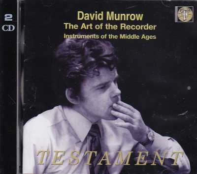 David Munrow / The Art of the Recorder / Instruments of the Middle Ages 2CD
