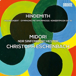 Paul Hindemith / Violin Concerto / Symphonic Metamorphosis / Konzertmusik // Midori / NDR Sinfonieorchester / Christoph Eschenbach