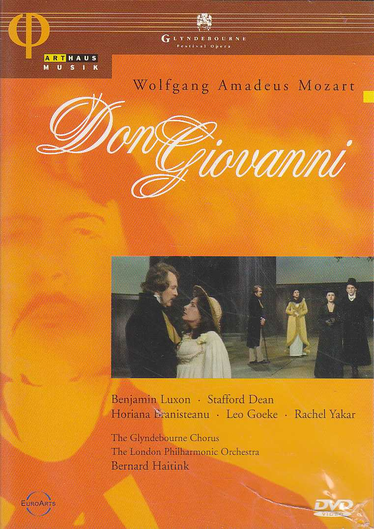 W.A. Mozart / Don Giovanni / Benjamin Luxon / Stafford Dean / The London Philharmonic Orchestra / Bernard Haitink DVD
