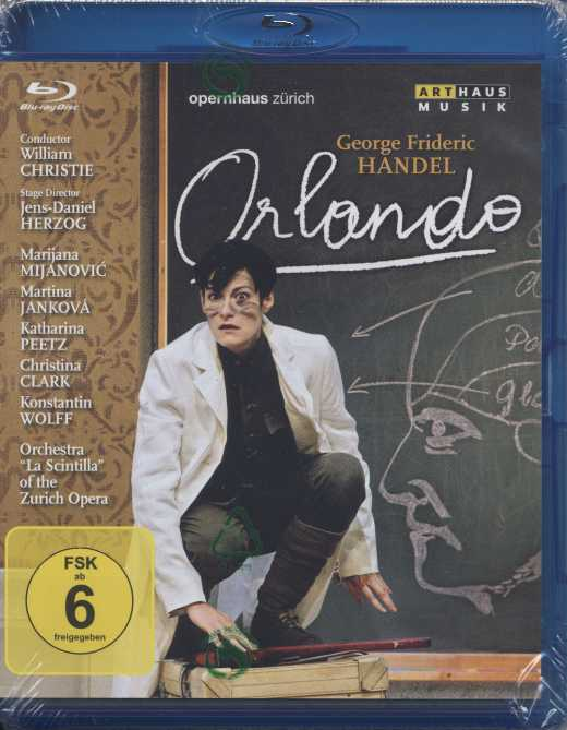 Georg Friedrich Händel / Orlando / Marijana Mijanovic / Matina Jankova / William Christie / Zürich Opera / Blu-ray Disc