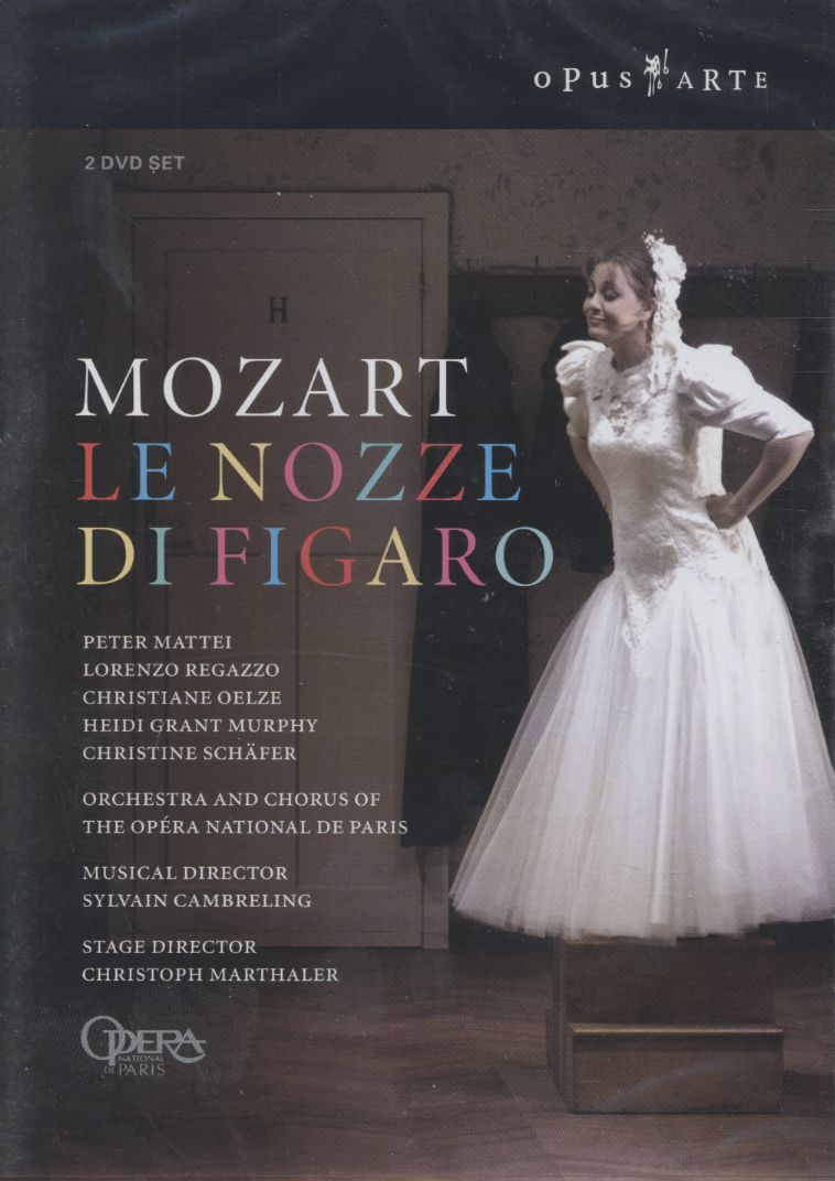W.A. Mozart / Le Nozze di Figaro / Peter Mattei / Lorenzo Regazzo / Orchestra and Chorus of the Opéra National de Paris / Sylvain Cambreling DVD