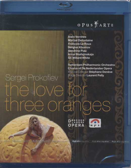 Sergei Prokofiev / The Love for Three Oranges / Alain Vernhes / Martial Defontaine / Francois Le Roux / Sandrine Piau / De Nederlandse Opera / Blu-ray Disc