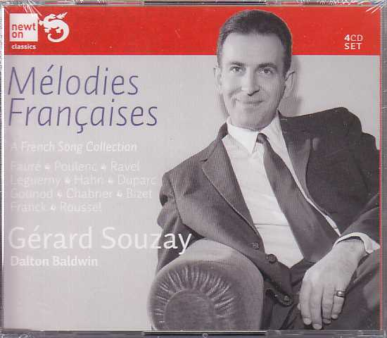 Gérard Souzay / A French Song Collection / Fauré / Poulenc / Ravel / Leguerny / Hahn / Duparc / Gounod / Chabrier / Bizet / Franck / Roussel 3CD