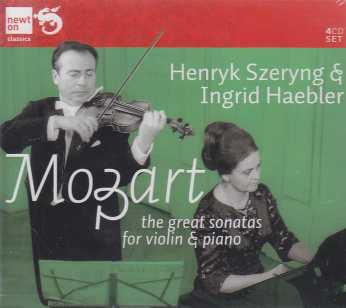 W.A. Mozart / The Great Sonatas for Violin & Piano / Henryk Szeryng & Ingrid Haebler 4CD