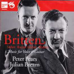Benjamin Britten / Music for voice and guitar / Peter Pears / Julian Bream