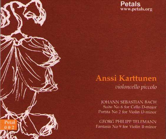 J.S. Bach / Cello Suite no. 6 / Georg Philipp Telemann / Fantasy no. 9 etc. / Anssi Karttunen